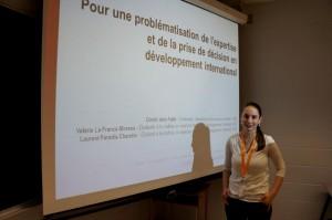 ACFAS 2014 - Expertise et développement international - Valérie La France-Moreau, Laurent Paradis-Charette et Dimitri della Faille